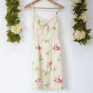 Betsey Johnson 100% Silk Floral Dress